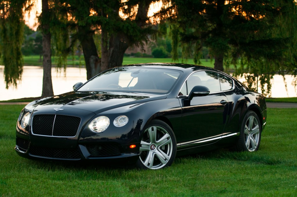 Bentley GT flipped